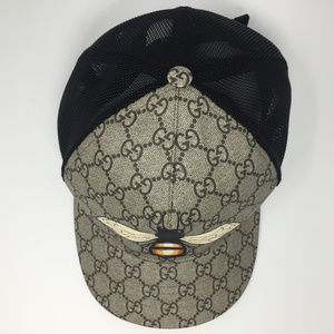 2379fb83 Gucci Accessories | Gg Supreme Bee Design Baseball Hat 60xl | Poshmark